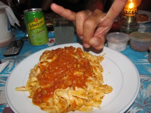 Handmade to Order Taglietelle with Homemade Bolognaise Sauce