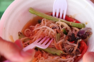 The very spicy papaya salad