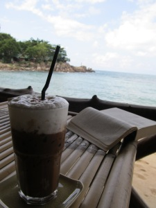 Iced Mocha, Beach and Books