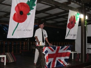 John leading Poppy Day Ceremony