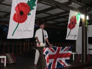 John leading Poppy Day Ceremony