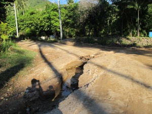 One of the roads after heavy rain