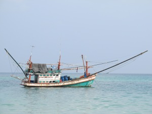 Thai Fishing Boat in Chaloklum Bay
