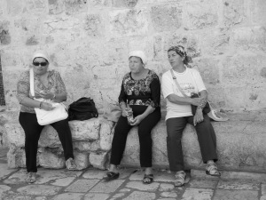 Greek Orthodox Ladies taking a break