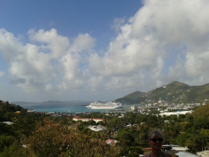 View of cruise port