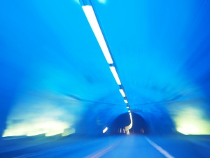 Inside the blue light