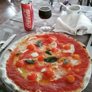 My second favorite Buffalo mozzarella and small tomatoes
