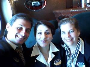 Gleison from Brazil and Martina from Italy, Portuguese Host and Events coordinator, we were the Funchal Ship Visit trio