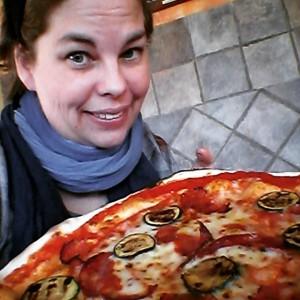 My favorite Vesuvio pizza, spice salami and zucchini
