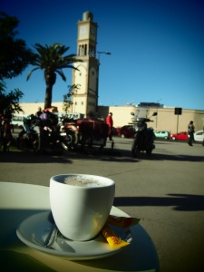 Coffee opposite the old market
