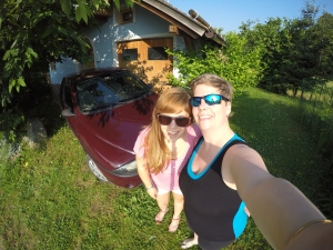 GoPro selfie, Kaja and I.