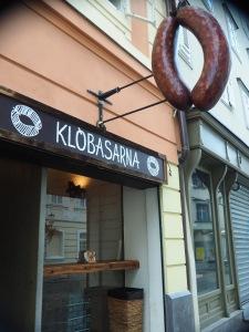 Slovenian sausage shop...