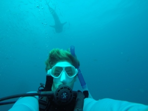 Selfie with a whale shark.