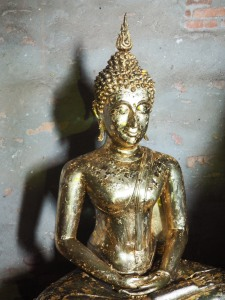gold leaf covered Buddha