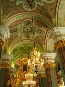 Inside the Cathedral in the Peter and Paul Fortress