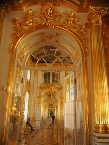 The gold rooms, 3 rooms one of the other covered in gold